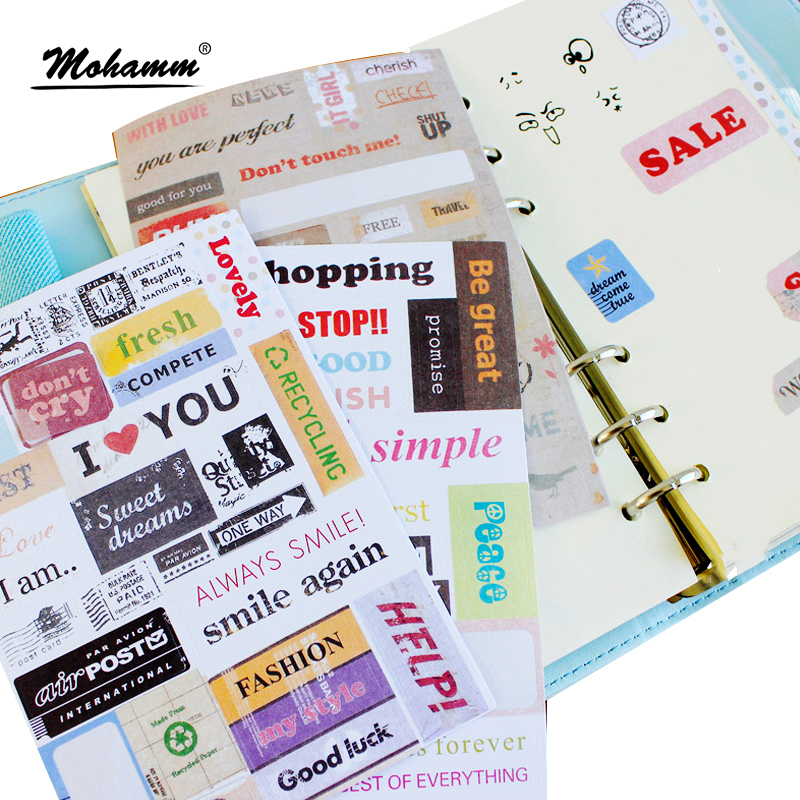 6 Sheet/set Vintage Punk Postmark Ponybrown Stickers Flake Seal Cards For Scrapbooking Diary Calendar Notebook Label Stationery