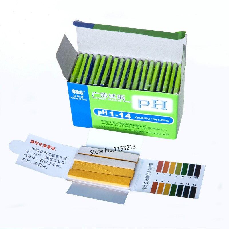 (20 Teile/los, Insgesamt 1600 Streifen) Ph-teststreifen Aquarium Teich Wasser Prüfung Ph Lackmuspapier 80 Streifen Full Range Alkalische Säure 1-14
