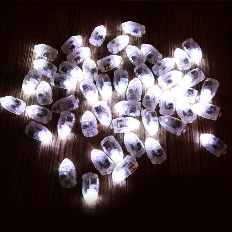 100 шт./лот светодиодный свет лампы белый шар для Бумага шары Свадебные украшения День рождения украшения светодиодный свет светодиодный фон...