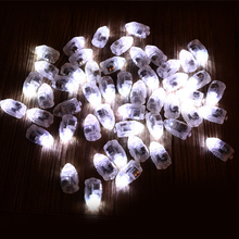 100pcs/lot LED Lamps White Balloon Lights for Paper Lanterns Balloons Wedding Birthday Party Decoration 2016 New Free Shipping