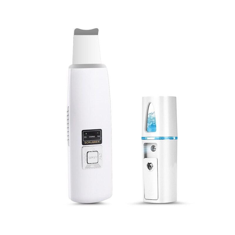 Limpiador de piel ultrasónico limpiador Facial eliminación de acné masajeador de Spa Facial ultrasonido pelado tono limpio elevador P40