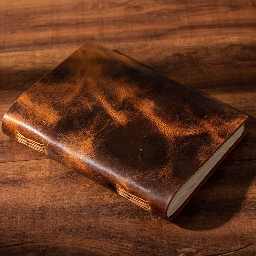 Journal personnel vintage mode peau de vache à la main brouillard cire première couche de cuir de vachette journaux épais livre Vintage planificateur