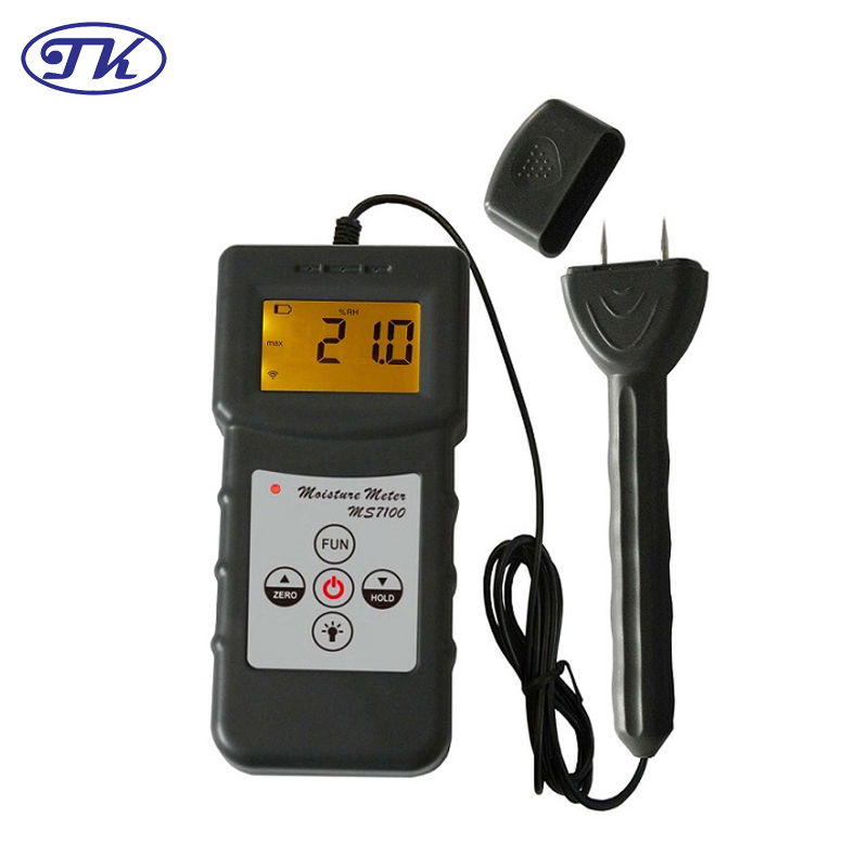 Digital Professional Wood Moisture Meter Over To 150 Kinds Wood 0-80% MS7100 цена