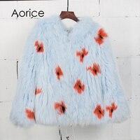 Aorice CT7030 Women Fox Fur Coat