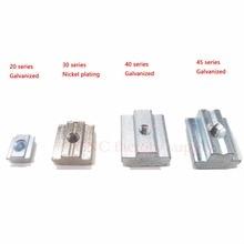 Т Гайка Блок квадратный Гайки Никель покрытие Алюминий для ЕС Стандартный 3030 Алюминий профиль Слот для коссель DIY ЧПУ