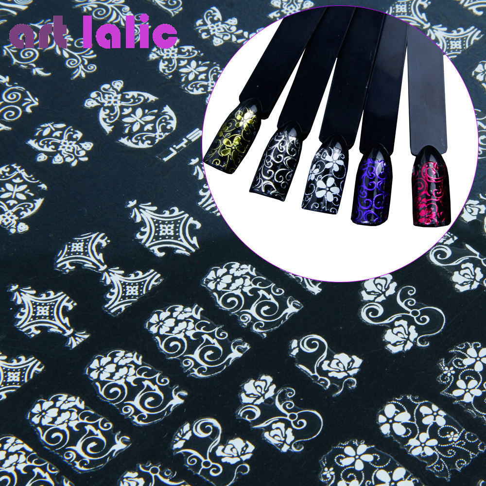 108 Design Gold Foil Flowers Stickers For Nails 6 Color Metal Bronzing Decal Metallic 3D Stamping Nail Art Sticker Tips Deco 108 design gold foil flowers stickers for nails 6 color metal bronzing decal metallic 3d stamping nail art sticker tips deco