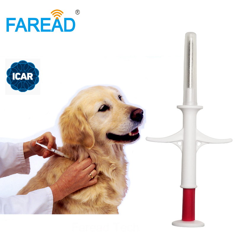 1.4x8mm/2.12x12mm ISO11784/5 FDX-B RFID Chip Veterinary Pet Fish Injector Syringe With Implants Glass Tag Animal ID Microchip