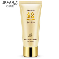 BIOAQUA Silk Protein Facial Cleanser Face Cleansing Skin Care Moisturizing Whitening Brightening Face Care 100g Facial Care