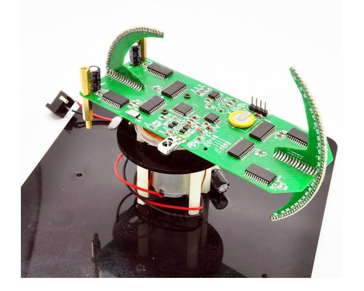 Hot Sale New DIY Spherical Rotating LED Kit POV Soldering Training Kit