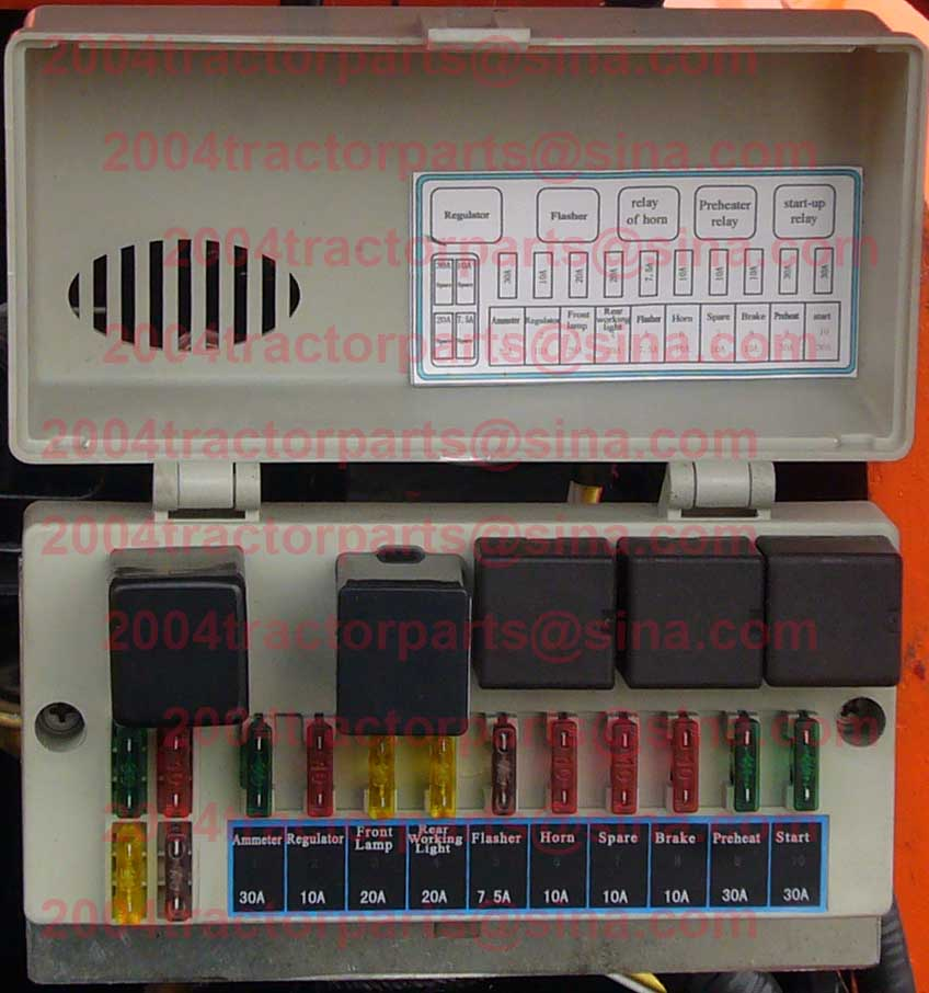 popular fuse box parts buy cheap fuse box parts lots from c703 003 fuse box assembly of jinma jm 30 35hp tractors