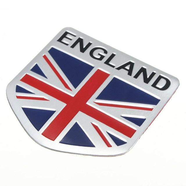 Car 3d gb england uk flag union jack shield emblem badge decals decor sticker