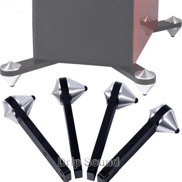אלומיניום החלקה אנטי תהודה בשילוב חום אודיו רמקול ספייק כרית הלם בולם בידוד Stand חצובה רגליים נייל 39mm