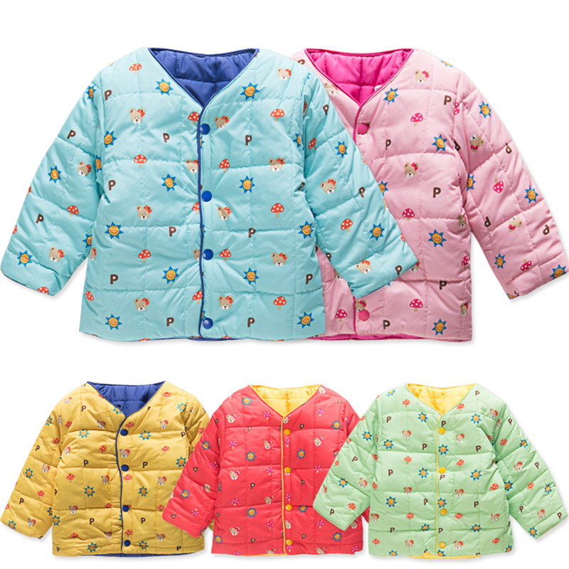 Retail 1-4years jacket down-like cotton-padded baby kids infants clothes clothing spring fall autumn winter цены онлайн