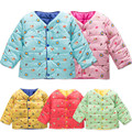 Retail 1-4years jacket down-like cotton-padded baby kids infants clothes clothing spring fall autumn winter