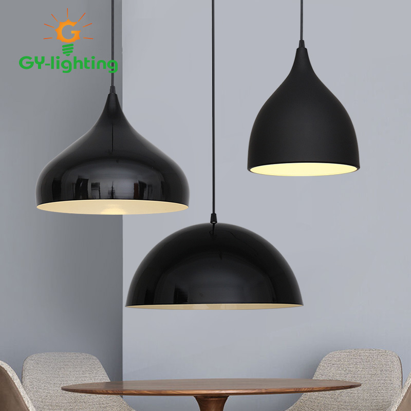 Industrial Style Pendants Lights Single Head Clothing Store Internet Cafe Restaurant LED Office Pendant Lamp For Home Lighting personalized clothing store track lamp