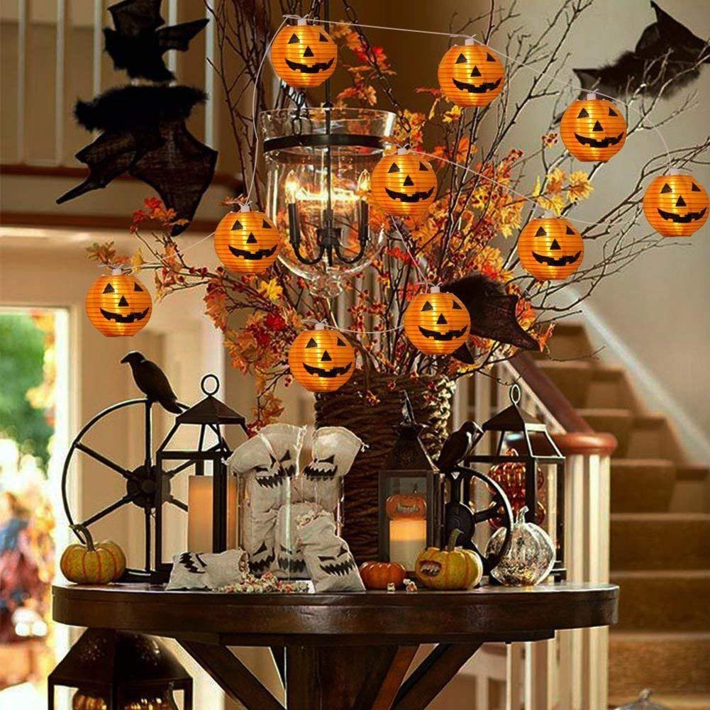 6/10/20LED Battery Operated Halloween Pumpkin Led String
