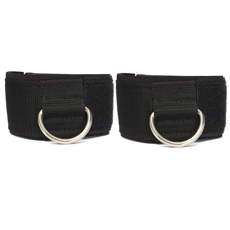 2pcs D ring Ankle Anchor Strap Belt Multi Gym Cable Attachment Thigh Leg Pulley Strap Lifting