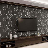 3D Non Woven Wallpaper Rolls Europe Simple Line Modern Living Room Wall Art Decals Boys Bedroom