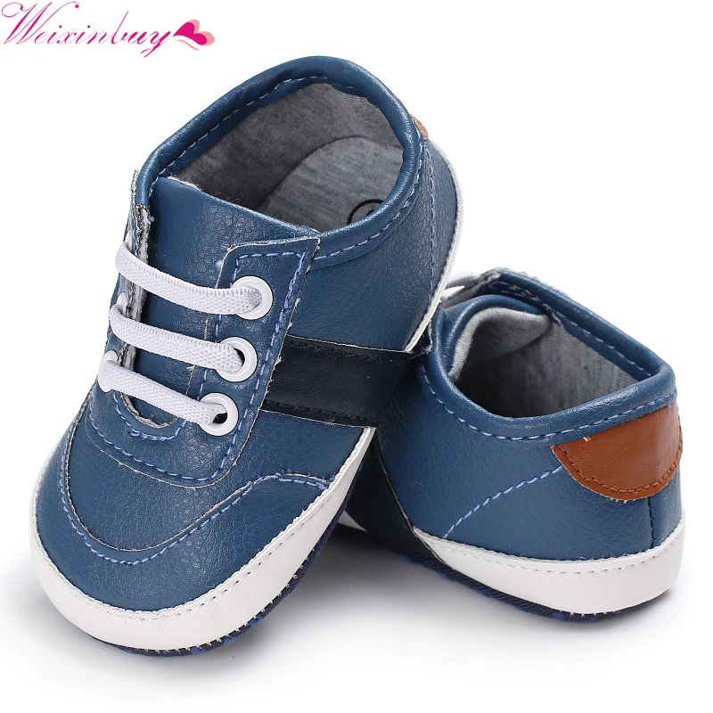 Winter Autumn PU Leather Shoes Baby boy Winter First Walkers Babe Cute Soft Bottom Newborn Babies 0-18M 2018 New