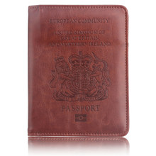 RFID PU Leather England Passport Cover for United Kingdom Britain Credit Card Holder UK Passport Case Unisex Travel Wallet Purse new pu leather passport cover holder women men travel credit card holder travel id card document passport holder