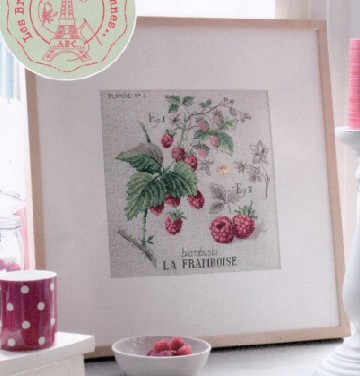 14/16/18/28ฟรีจัดส่งคุณภาพสูงร้อนขายน่ารักชุดชุดปักครอสติสพจนานุกรมFramboise Raspberriesผลไม้
