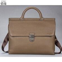 Men's Bags Genuine Leather Handbags Casual Handbag Briefcases Natural Cowhide Shoulder Bag Male Business Laptop Messenger Bag