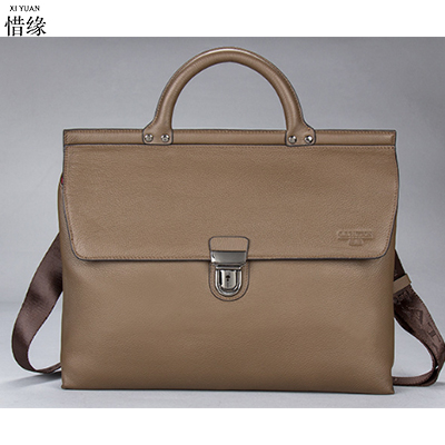 Men's Bags Genuine Leather Handbags Casual Handbag Briefcases Natural Cowhide Shoulder Bag Male Business Laptop Messenger Bag beijue boa leather single shoulder women handbag chain bag single shoulder bag black python skin