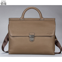Men's Bags Genuine Leather Handbags Casual Handbag Briefcases Natural Cowhide Shoulder Bag Male Business Laptop Messenger Bag
