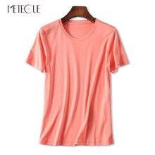 coton bref cou t-shirt