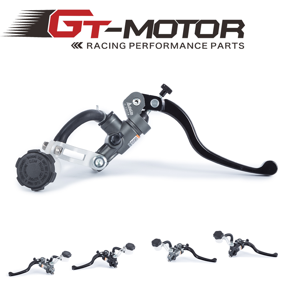 GT Motor - Universal 16mm 17.5mm 19mm Adelin Motorcycle Brake Clutch Pump Master Cylinder Lever Handle For Kawasaki
