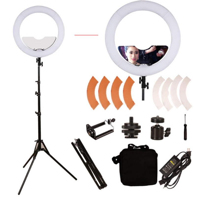 GSKAIWEN 18 inch 240 LED Ring Light Mirror Make Up Beauty Light with Stand for Wedding