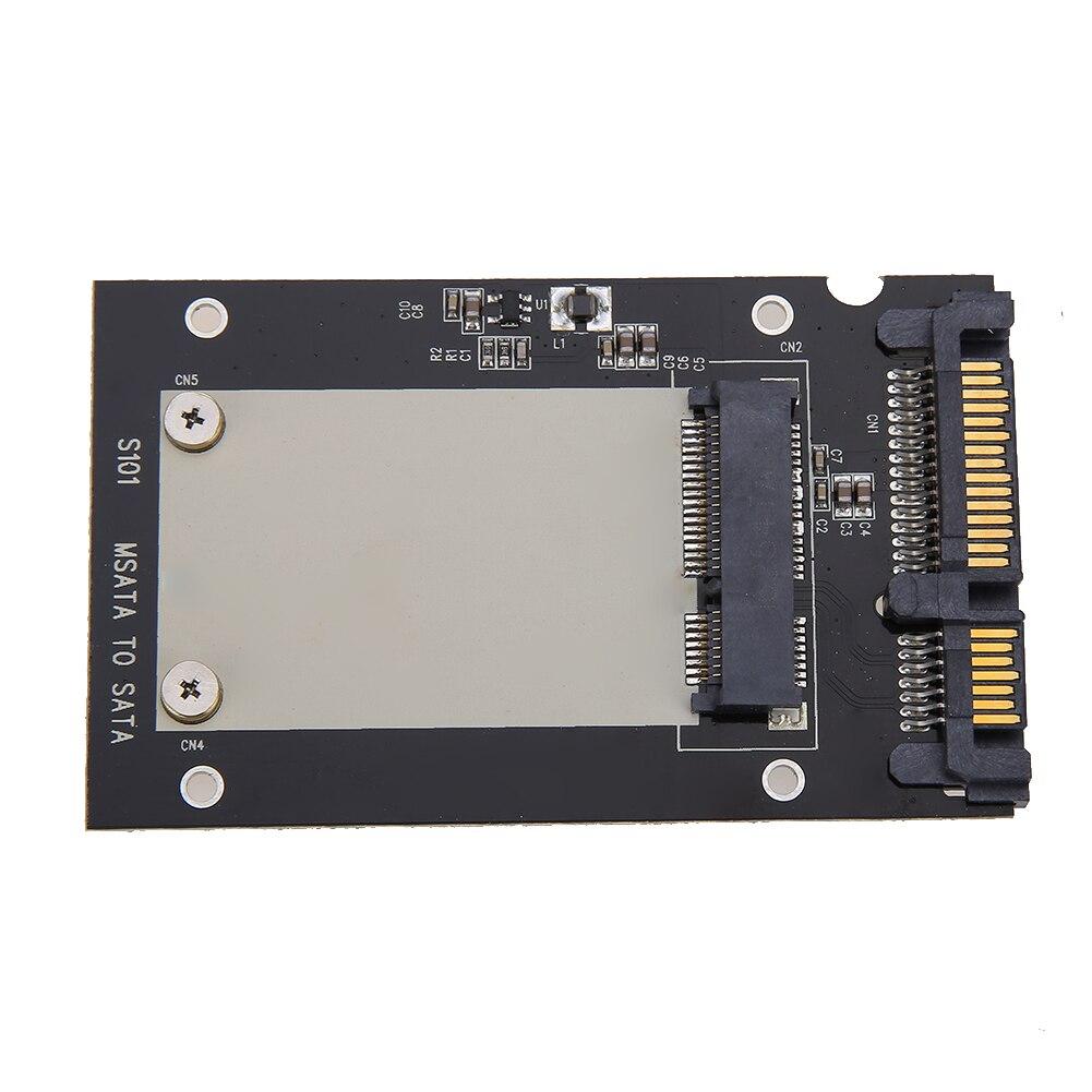 NEW Metal + Plastic Black External Enclosure MSATA SSD To 2.5 Inch SATA Convertor Adapter Card SDD Enclosure Case 50x30mm