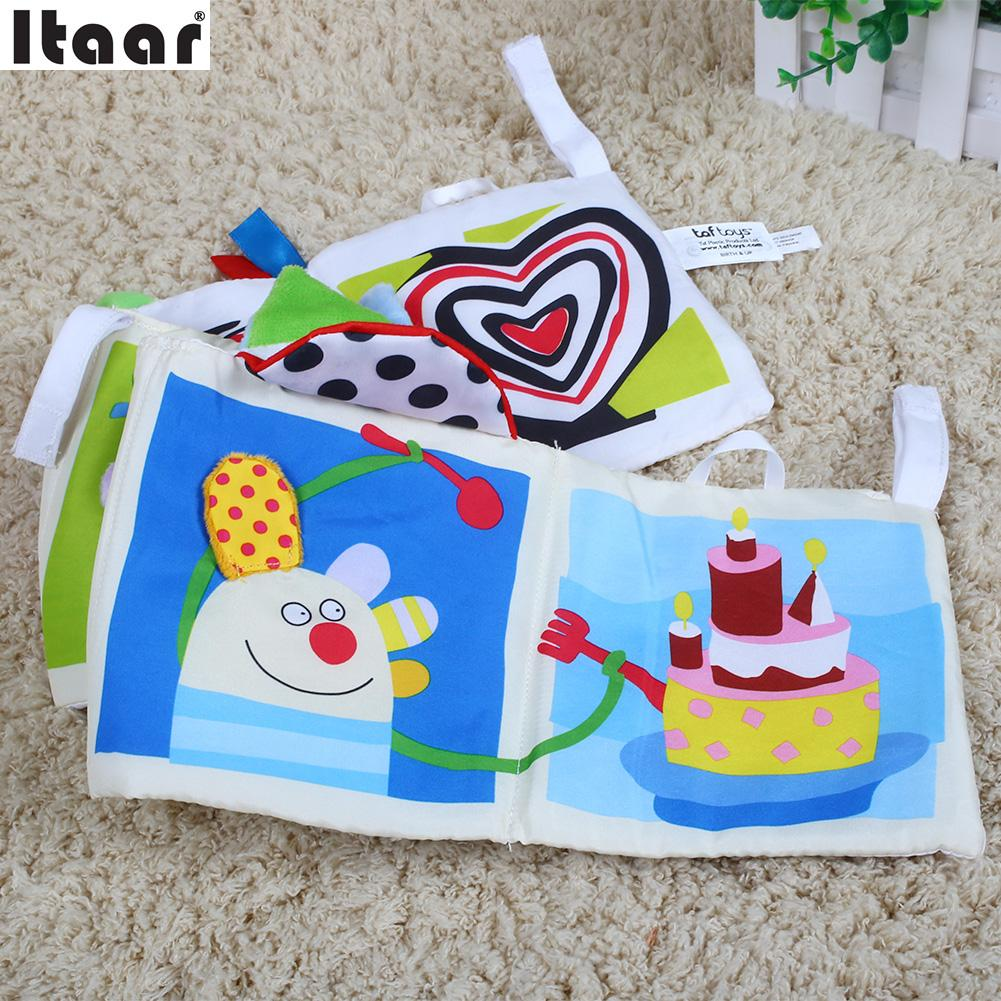 Crib activity toys for babies - Baby Kids Double Sided 3d Dog Crib Cloth Cilp On Pram Book Activity Toys