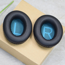 Replacement Ear Cushion For Bose Qc35 Qc25 Qc15 Headset Memory Foam Ear Pads Protein Leather Headphones SH# 1 pair of black replacement protein leather memory foam ear pads caps cushion almofadas de ouvido for bose qc15 ae2 ae2i ae2w qc