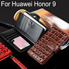 For Huawei Honor 9 Case Luxury Crocodile Snake Leather Flip Business Style Wallet Phone Cases For