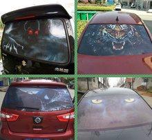 Linkerkant 3D Auto Stickers Geperforeerde Pvc Waterdichte Achterruit Glas Toont Up Wanneer Iemand Schakelt De Grootlicht achter Je