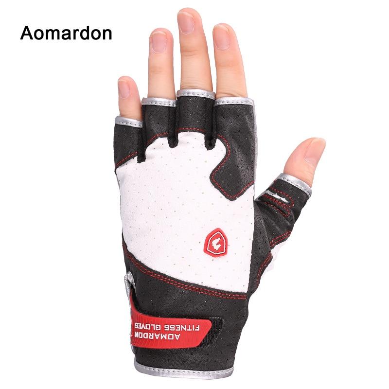 Aomardon Fitness Gloves Aerobics Men and Women Semi Finger Sports Equipment Dumbbells Weightlifting Wristbands Anti-skid Gloves