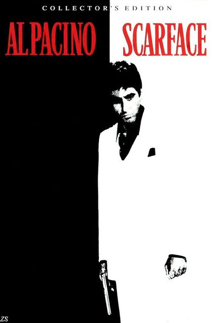 Al pacino black and white poster classic gangster films scarface silk print movie poster for home
