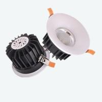 16 PCS/Lot Dimmable 5 W 7 W 10 W 15 W LED Spot light LED plafonnier Encastré LED downlight COB 110 V 220 V
