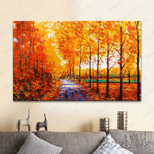 Hand painted Canvas Oil painting Wall Pictures for Living room wall decor art canvas painting palette knife landscape 8