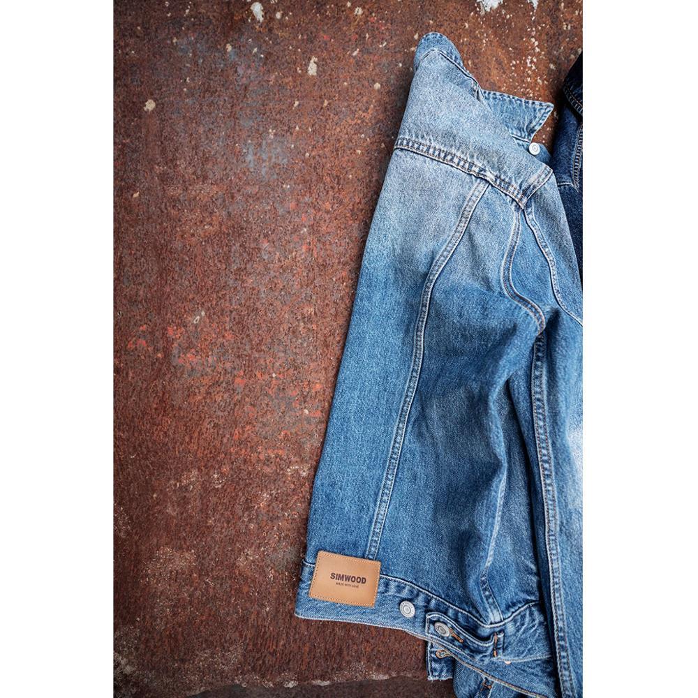 Simwood 2019 새로운 봄 짧은 데님 재킷 남자 캐주얼 브랜드 의류 슬림 남성 패션 청바지 겉옷 플러스 사이즈 코트 190034-에서재킷부터 남성 의류 의  그룹 3