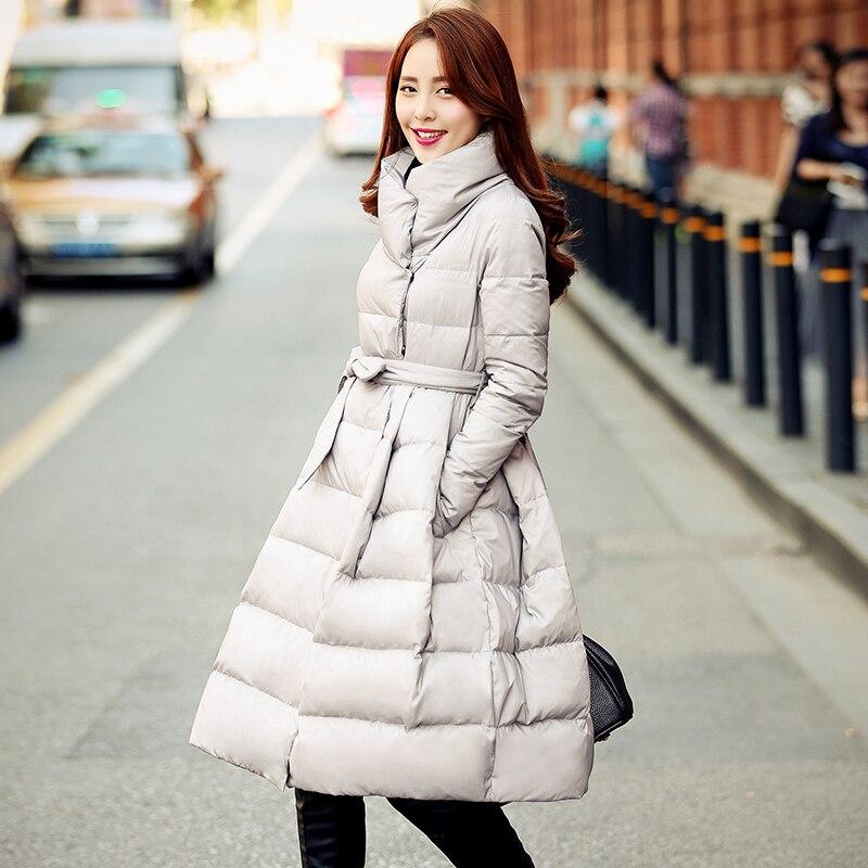 2016 Real Ukraine Quality New Winter Coat Women Jacket A Knee Fashion Long Skirt Female Thick Womens Down Parkas Manteau Femme