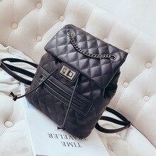 FREE SHIPPING quilted backpack diamond lattice shoulder bag knapsack packsack rucksack women fashion purse