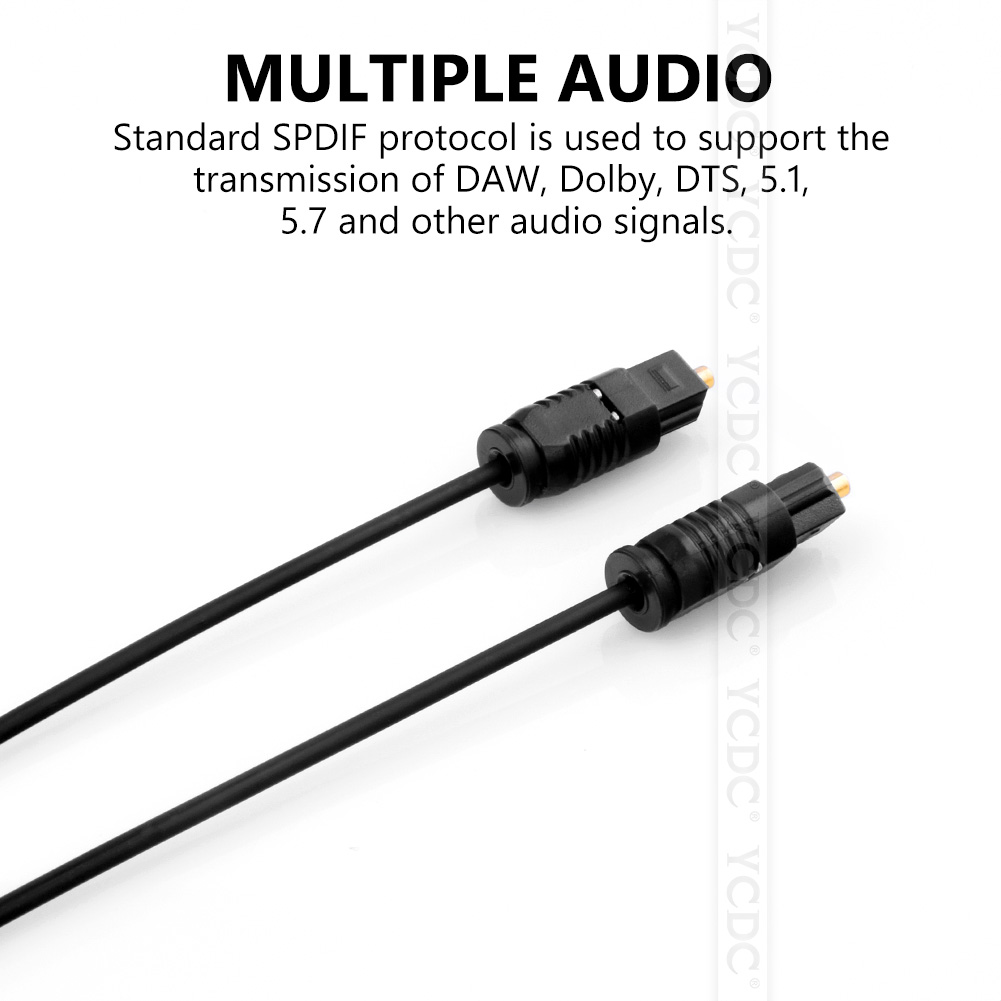 1m 1.5m 2m 3m 5m 10m toslink digital optical cable cord lead surround audio effects