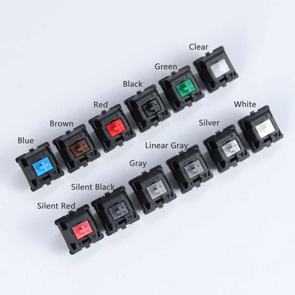 Ban Đầu Switch Cherry MX 3 Pin Bàn Phím Cơ Nâu Xanh Đỏ Trắng Trong Bạc Slilent Đen Xám Xanh MX Công Tắc|Keyboards| - AliExpress