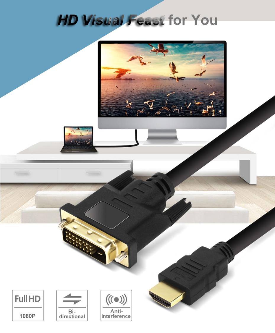 HDMI to DVI Cable, DVI  to HDMI Cable 1