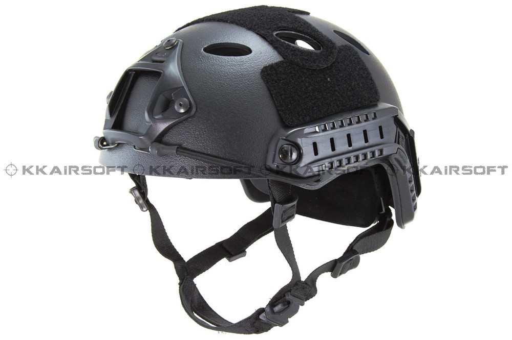 Casco de motocicleta Emerson Airsoft estilo rápido PJ casco (A-TACS FG TAN MARPAT desierto en gris negro)