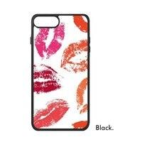 Vrouwen Lip print Lipstick Oxblood rood Roze hot oranje Lover patroon Telefoon Case voor iPhone X 7/8 Plus Gevallen Phonecase Cover