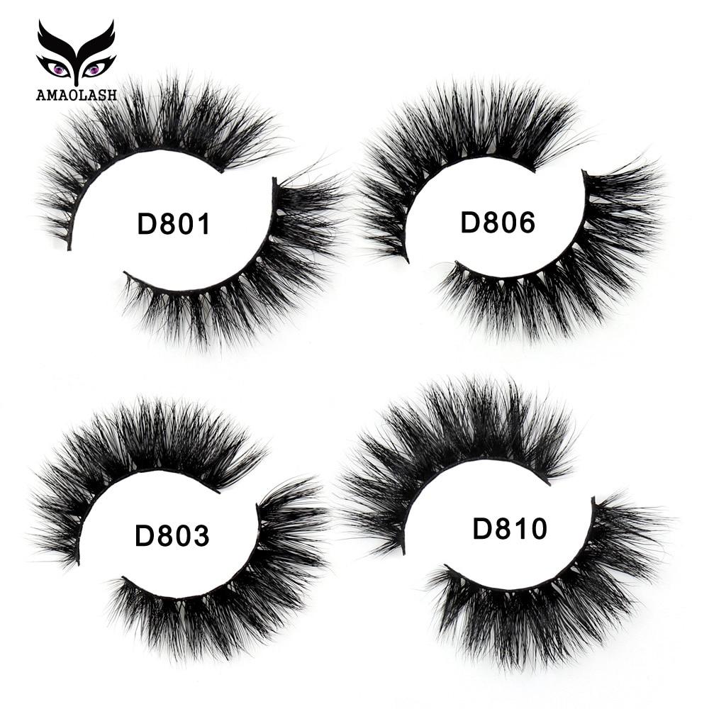 AMAOLASH False Eyelashes 3D Mink Lashes Long Lasting Cruelty Free Mink Eyelashes Volume Eyelash Extension Makeup Faux Cils