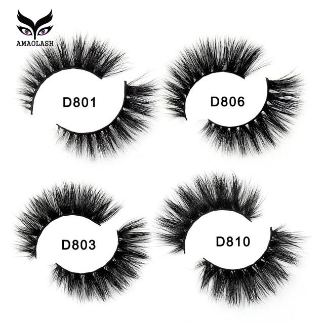 AMAOLASH Mink Lashes 3D Mink False Eyelashes  Natural Long Lasting cruelty free volume Mink Eyelashes 1pair Extension Makeup